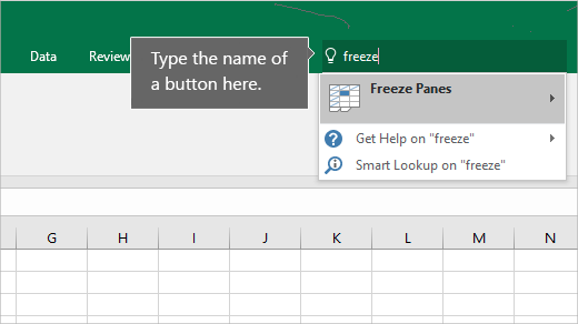 Tell me trong Excel