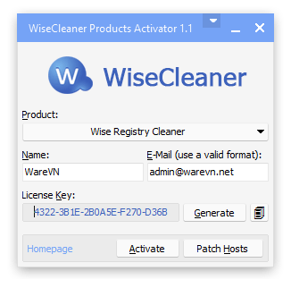License Key Wise Registry Cleaner Pro